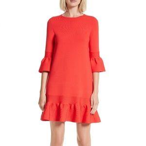 NWT Ted Baker Tynia Peplum Ruffle Shift Dress